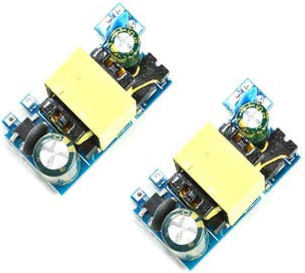 Acxico 2Pcs AC-DC Converter AC 110V 220V 230V to DC 5V 12V 24V Power Supply Mini PCB Module(DC24V 0.5A Version)
