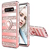 Maxdara Case for Galaxy S10 Glitter Case with Ring...