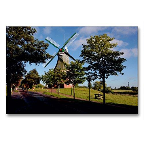 Premium Textil-Leinwand 90 x 60 cm Quer-Format Grüne Mühle | Wandbild, HD-Bild auf Keilrahmen, Fertigbild auf hochwertigem Vlies, Leinwanddruck von Hardy Dreegmeyer
