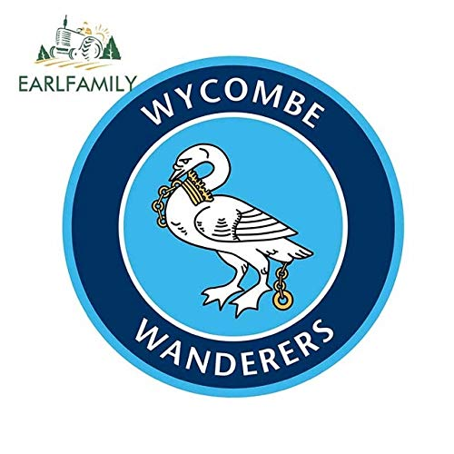 BJDKF 13cm x 13cm For Wycombe Wanderers Anime Car Stickers Car Door Protector Decal Repair Occlusion Scratch Decoration