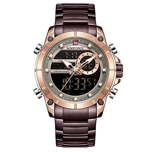 xiaoxioaguo Reloj de hombre de lujo de la marca de los hombres de los deportes militar reloj de acero impermeable de cuarzo reloj digital