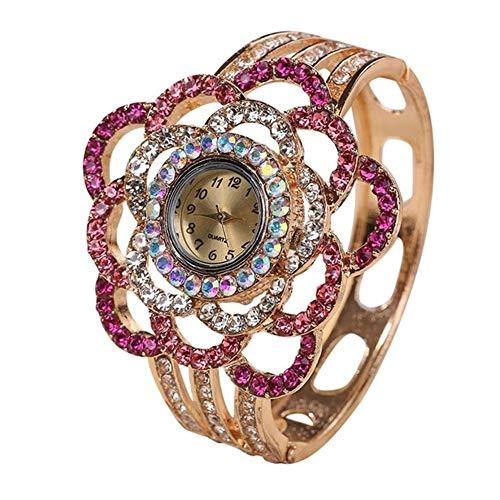 Armbanduhr Uhr Uhren Damen Uhrenarmband Hollow Out Armreif Kristall Quarz Armband Uhr Schmuck Charm