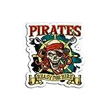 Lplpol 3 pegatinas de piratas para alquiler para hombres, mujeres, niños, pegatinas de vinilo para adolescentes, niñas, mujeres, 4 pulgadas