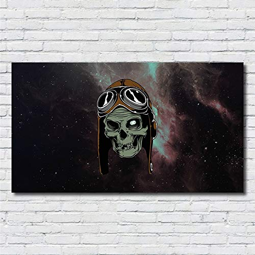 Galaxy Art Poster Print Outer Space Skull Pilot Landscape Star Picture Wall Art Home Decor HD Painting Canvas Painting 40 * 70cm