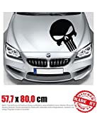The Punisher Motorhaubenaufkleber 57,7 cm x 80,0 cm Auto Aufkleber JDM OEM Tuning Sticker Decal 30...