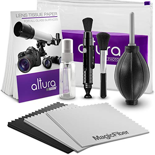 Altura Photo Professional Cleaning Kit for DSLR Cameras and Sensitive Electronics Bundle with Refillable Spray Bottle Altura Photo