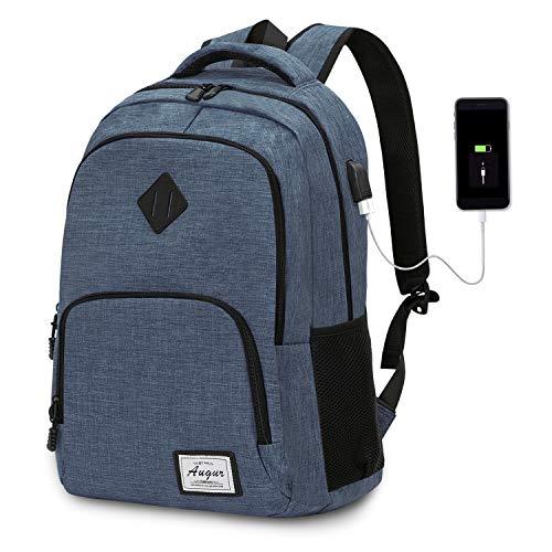 Laptop Rucksack Wasserdicht Schulrucksack Reiserucksack Damen Herren Daypacks Rucksack Grosse Kapazität Multifunktionsrucksack Diebstahlsicherung Tagesrucksack für Business 15,6 Zoll, 20-35L (Blau)