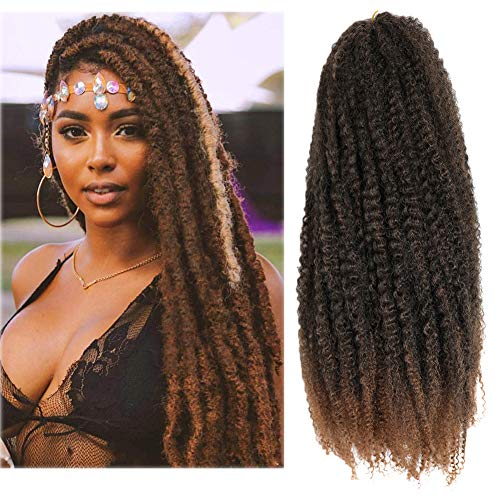 Marley Hair 24 Inch Marley Braiding Ombre Hair for Long Afro Kinky...