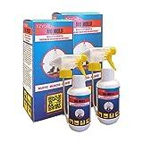 TZYGO No Mold | antimuffa spray | trattamento antimuffa per pareti Contro Muffe, Muschi, Alghe e spore | Per Muri Interni Ed Esterni | 2 flaconi spray da 250 ml