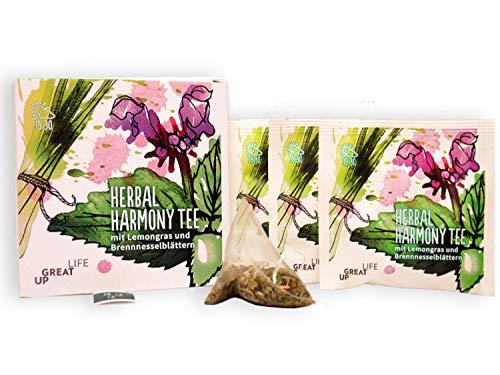 Herbal Harmony Functional BIO-Tee Mix (30 Stück). Lemongras Brennessel Tee mit Weißdorn, Melisse Birkenblättern | Zur Begleitung einer Cleansing Diät Kur | Anti-Stress | Vitalität | Basen Tee