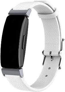 Compatible con Fitbit Inspire/Inspire HR Bands, pulsera de cuero genuino para Fitbit Inspire Fitness Tracker/Inspire HR ri...
