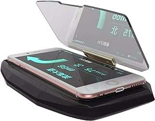 Martinimble Head Up Display Holder,Head-up Display Mobile Phone Navigation Holder Adjustable Base for Car Driving(HUD Angle:198 Degree Adjustable)