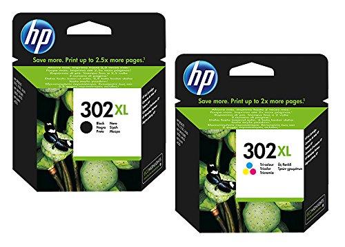 1x Set Original XL HP Tintenpatrone F6U68AE F6U67AE HP 302XL HP 302 XL für HP Deskjet 3630 - BLACK + Color - Leistung: BK ca. 480 / Color ca. 330 Seiten/5%