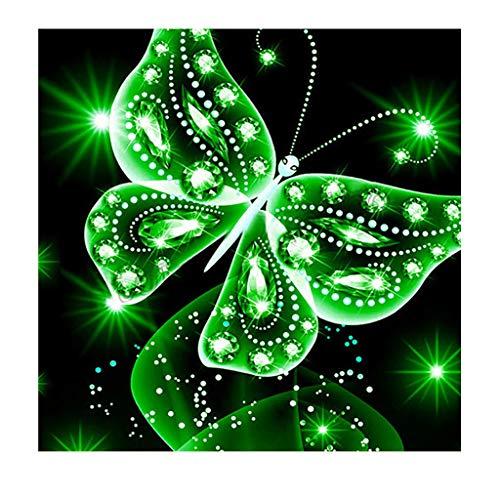 Cerlemi DIY 5D Diamond Painting Schmetterlingsmuster,Diamant Malerei Kit Mit Diamantkunst Stickerei Strass Butterfly Full Diamond Painting Voller Stickerei Malerei für Home Wanddekoration Decoration
