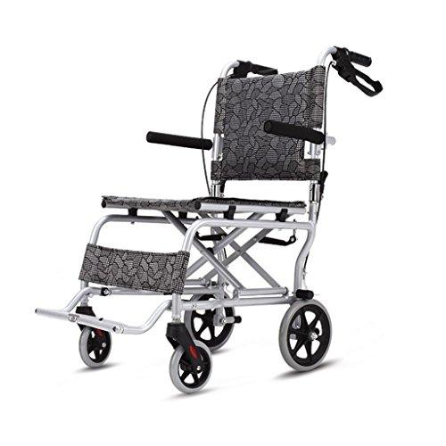 Kinderrollstühle Alter Mann Tragbarer Rollstuhl Multifunktions-Faltrollstuhl Reiseroller, Gewicht 180 Kg Tragend