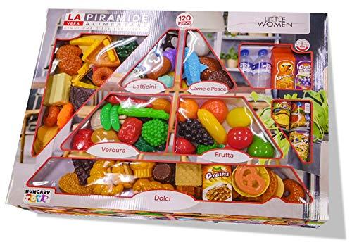 Xlq Little Woman- Gioco Piramide Alimentare 120 Pezzi, Giocattolo Adatto a Bambini dai 3 Anni