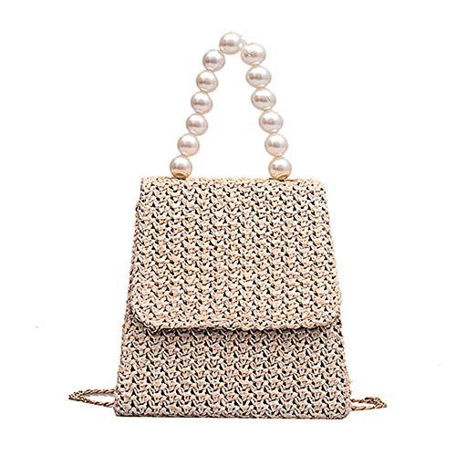 Kleine tas kleine vierkante tas studentenketting handtas Pearl Design