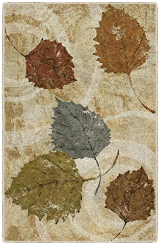 Brumlow MILLS Golden Autumn Fall Leaves Outdoor Landscape Area Rug for Kitchen, Entryway, Living Room or Bedroom, 1'8