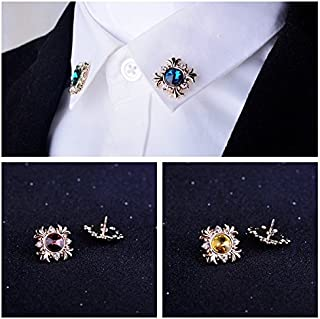 4d0fc85eb66 Fashion clothing men's suits cross brooch pin collar pin diamond lapel  collar blouse Korean flower corsage