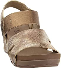 "Corkys Womens Fig Null Wedges Casual Mid Heel 2-3"" - Gold - Size 10 B"