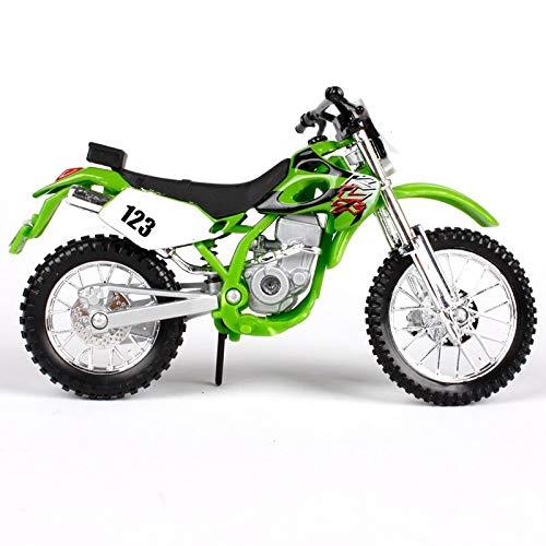 DSWS Kit modelo de motocicleta 1:18 Para Kawasaki KLX 250SR MOTOCY CLEDIECAST MODEL Adultos Niños Juguetes Ornamentos