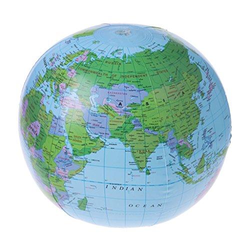 LyGuy Aufblasbare Weltkarte-Kugel-Ballon-Wasserball-Bildungs-Geografie-Kinderspielwaren Kartenballon