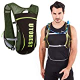 UTOBEST Hydration Pack Backpack Lightweight Hydration Vest for Women Men Trail Running 5L Green