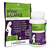 Boric Acid Vaginal Suppositories - 30 BV Treatments + 7 Applicators - Helps...