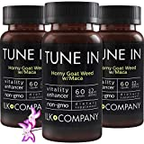 Horny Goat Weed with L-Arginine and Maca Root - Powerful Blend of Concentrated Ingredients - Non-GMO - 60 Capsules (3 Bottles)