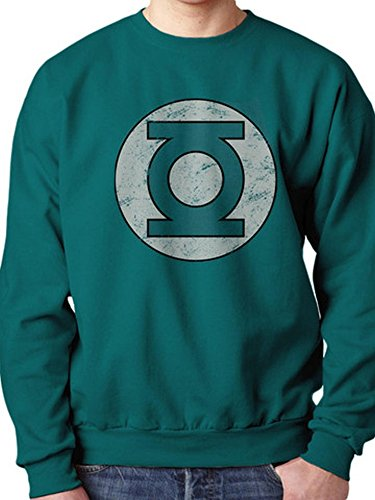 Officiel Green Lantern – Distressed Logo – Col Rond Sweat - Vert - Large