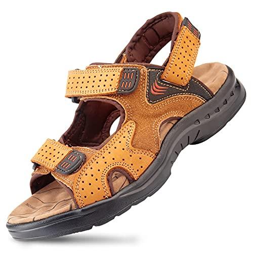 Mlcjva Heren sandalen lederen zomer strand sandalen heren mode slippers outdoor casual sneakers