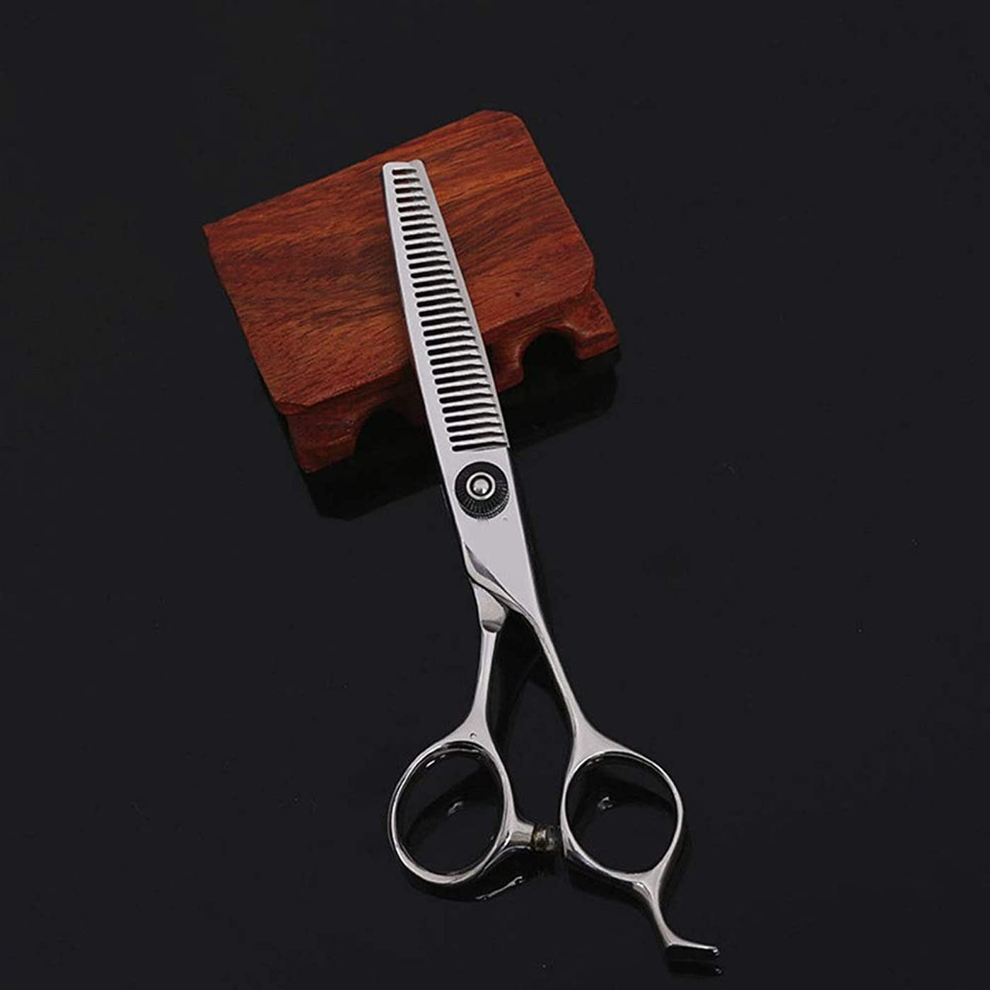 謎めいた肝投票6インチの美容院プロフェッショナルなヘアカット間伐ヘアカットはさみ モデリングツール (色 : Silver)