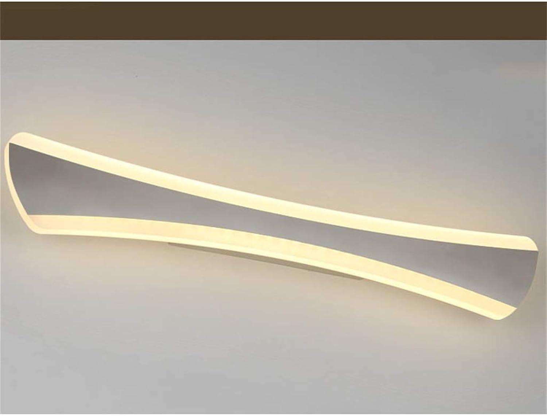 WYFLM WLBD Badezimmer Wandleuchten Led Badezimmerspiegelleuchte Edelstahl und Acryl Spiegel Front Make-Up Beleuchtung, 14 Watt Warmwei [Energieklasse A +]