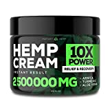 Instant Hemp Pain Relief Cream - 2,500,000 - Relieve Muscle, Joint & Arthritis Pain - Natural Hemp Extract for Arthritis, Foot & Back Pain - 2oz