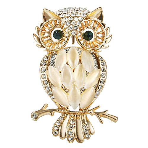 Owl Car Aromatherapy Essential Oil Diffuser Diamond Locket with Vent Clip and Best Home Decoration Car Decoration Car Air Freshener, AMind(Gold)