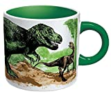 Heat Changing Disappearing Dino Mug - Add Coffee or Tea and the Dinosaurs Turn to Fossils - Comes in a Fun Gift Box