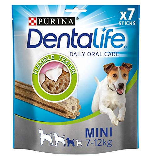 PURINA DENTALIFE Mini Hunde-Zahnpflege-Snacks, reduziert Zahnsteinbildung, Huhn, kleine Hunde, 5er Pack (5 x 115g)