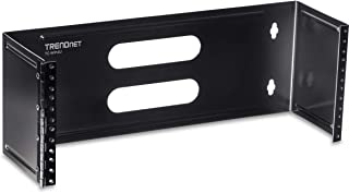 TRENDnet 4U 19-Inch Hinged Wall Mount Bracket for Patch Panels and PDU Power Strips, Supports EIA-310, TC-WP4U
