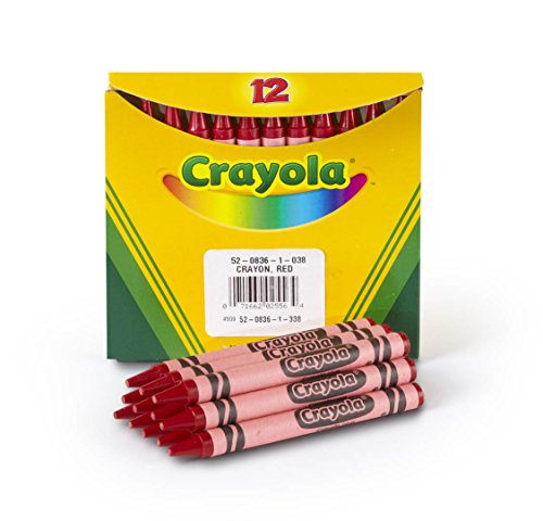 Crayola Bulk Crayons, Regular Size - Red (12 per box)