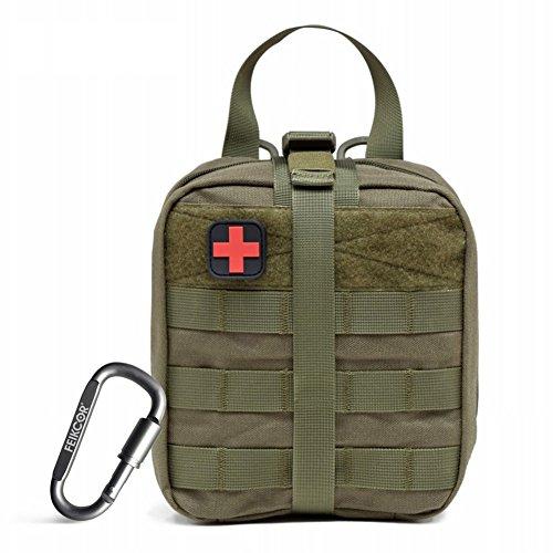 FEIKCOR Rip-Away EMT Beutel Taktische MOLLE Medizinische Erste Hilfe IFAK Blowout Tasche 1000D - Bag Only (ArmyGreen)