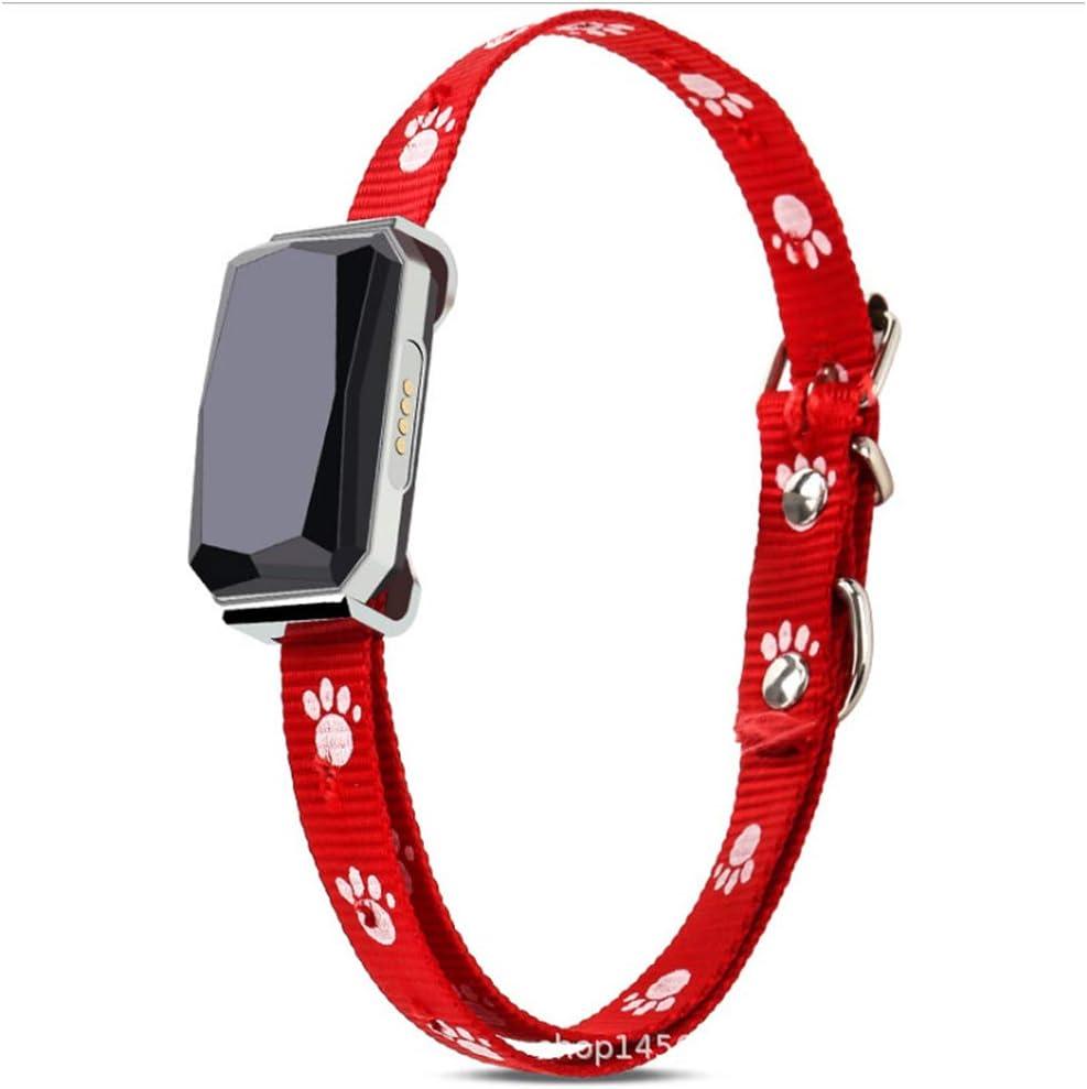 XHPWW Pet Locator Dog Cat GPS Locator Collar, Rastreador multifunción para Seguimiento Inteligente pequeño LBS de Perros Grandes (Rojo)