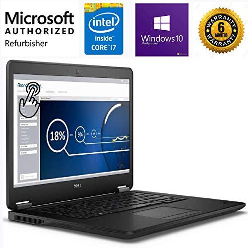 Dell 2019 Premium Dell Latitude E7450 Ultrabook 14 Inch Business Laptop (Intel Dual Core i7-5600U up to 3.2GHz, 8GB DDR3 RAM, 256GB SSD, Intel HD 5500, WiFi, HDMI, Windows 10 Pro) (Renewed)