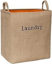 SKGOFGODcw Home Storage Bins Folding Laundry Basket Cotton Organizer Storage Bag Hamper Collapsible Clothes Organizer Larg...