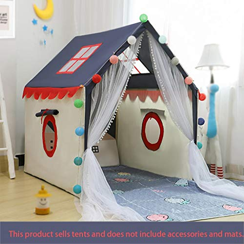 Tents Jeu Adventure Boy, de Couchage indépendant Aire de Jeux intérieure Jouer for Enfants Château Style 100 * 130 * 135CM (Size : 100 * 130 * 135CM)