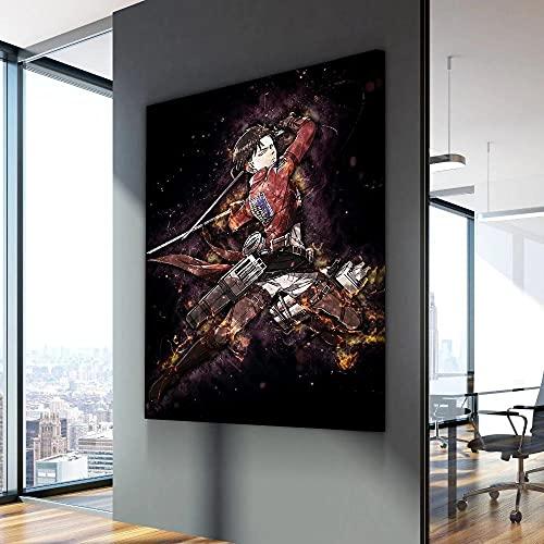 cuadros decoracion salon modernos 1 Piezas Arte Abstracto De La Pared Foto Cuadro En Lienzo Ataque Manga en Titán Cuadros decoracion dormitorios Con marco-50 X 70 CM SDYJX