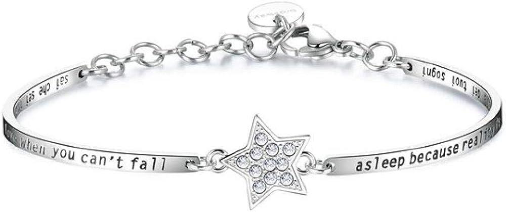 Brosway chakra trendy bracciale per donna  in acciaio e cristalli swarovski 8053851026790