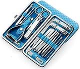 Juego de tijeras para uñas, cortaúñas, 10 piezas, herramienta de pedicura de acero inoxidable, cuidado personal, juego de belleza, tijeras para uñas de punta portátil, juego de belleza