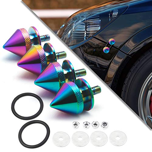 Xotic Tech Spike JDM Style Car Bumpers Trunk Fender Hatch Lids Quick Release Fasteners (Neo)