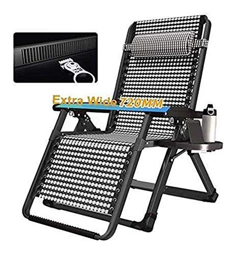 MTCWD Reclining Outdoor Folding Chairs Lounge Chair Adjustable Sun Lounger Garden Outdoor Foldable (Color : Without Cushions)