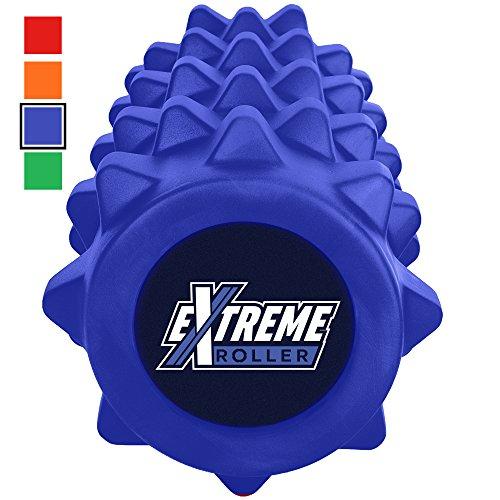 Extreme Foam Roller – Extrem dichte Premium Muskel Faszienrolle fördert Muskelfaser- und Triggerpunktmassage (Stahlblau)